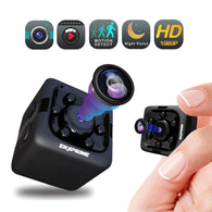 HD Hidden Camera Nanny Cam - Mini Wireless Cop Cam Action Cameras for Indoor or Outdoor, Home Office or Car Video Recorder with 1080p HD Recording and Night Vision Monitoring Camera