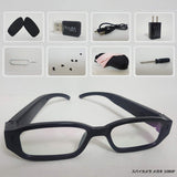 1080p Stealth Glasses with Camera-16GB Micro SD Card Included with Clear Prescription Sunglasses Lens For Christma