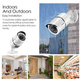 8CH Full True 1080P Video Security DVR 4X 1080P HD Outdoor Weatherproof Surveillance Camera System 1TB HDD White(100ft Night Vision, Motion Alert, Smartphone& PC Easy Remote Access)