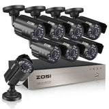 8-Channel HD-TVI 720P 1080N Video Security DVR Surveillance Camera Kit 8X 1280TVL Indoor Outdoor IR Weatherproof Cameras 65feet 20m Night Vision with IR Cut NO Hard Drive