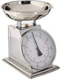 Stainless Steel Analog Kitchen Scale, 11 Lb. Capacity