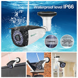 WiFi Camera Outdoor, Surveillance CCTV, 720P HD Night Vision IP Cameras, Motion Detection Security Camera, Remote View Waterproof Bullet Cameras for Indoor Outside, Support Max 128GB SD Card