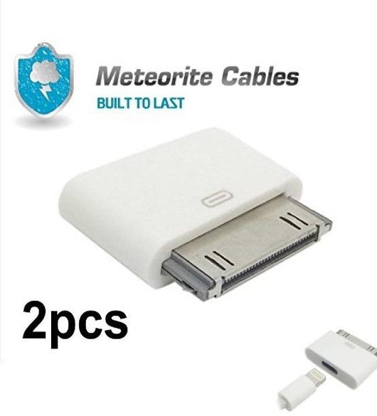 2x Lightning 8 Pin Female to 30 Pin Male Adapter for iPhone 4/4S iPod Touch 4