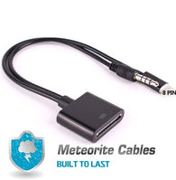 2x 8pin (lightning) to 30pin audio adapter cable for apple iphone/ipad/ipod Blk
