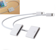 2x  8 pin Lightning to 30 pin Charge Sync Cable Adapter Converter Cord for Apple iPhone ipod iPad