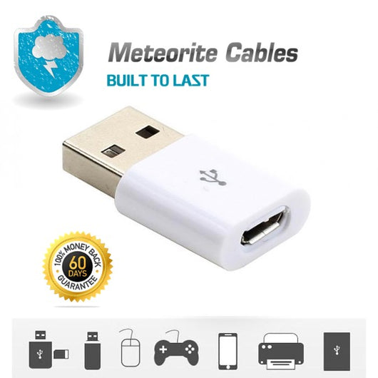 Micro USB OTG Host Cable Adapter Male to 2.0 Female For Android Tablet / Phone White