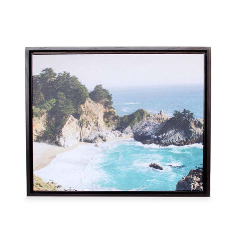 Canvas Print with Black Floating Frame
