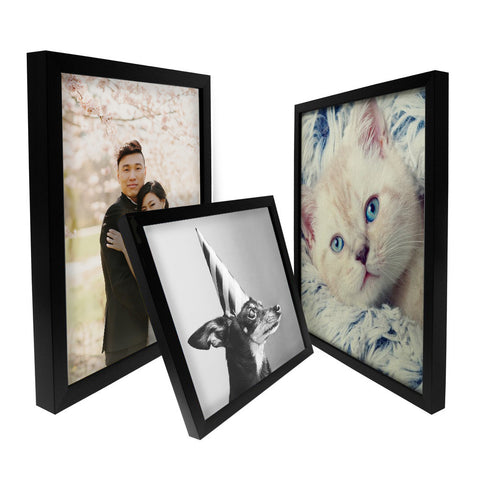 Framed Canvas Print - Black