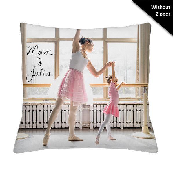 Photo Faux Down Throw Pillow - Without Zipper
