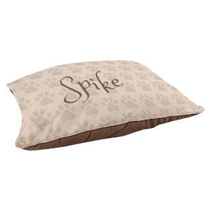 Monogrammed Paws Pet Bed