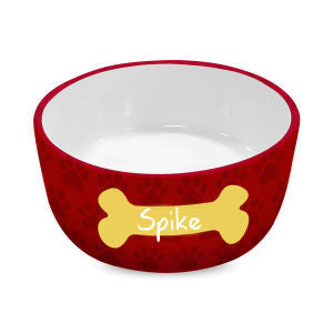Monogram Dog Bowl