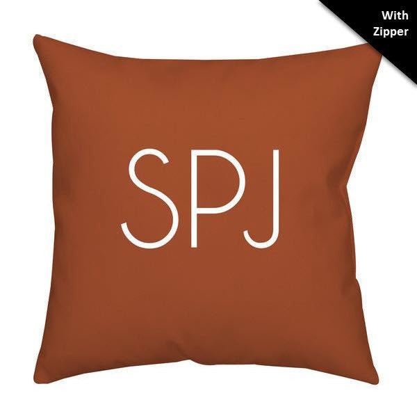 Monogram Faux Down Throw Pillow - With Zipper