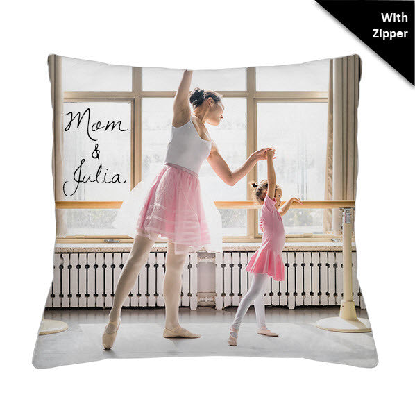 Photo Faux Down Throw Pillow - With Zipper