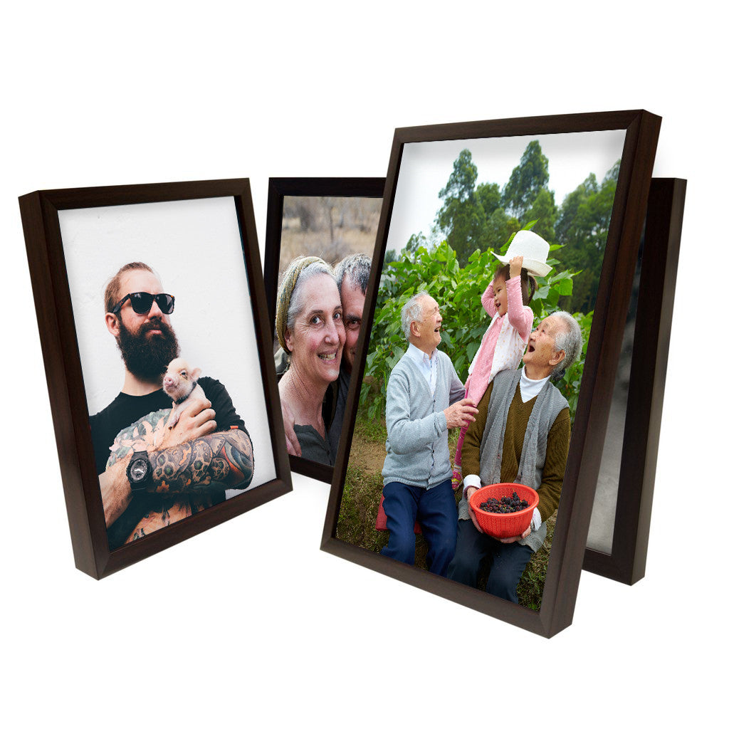 Canvas Print with Walnut Frame