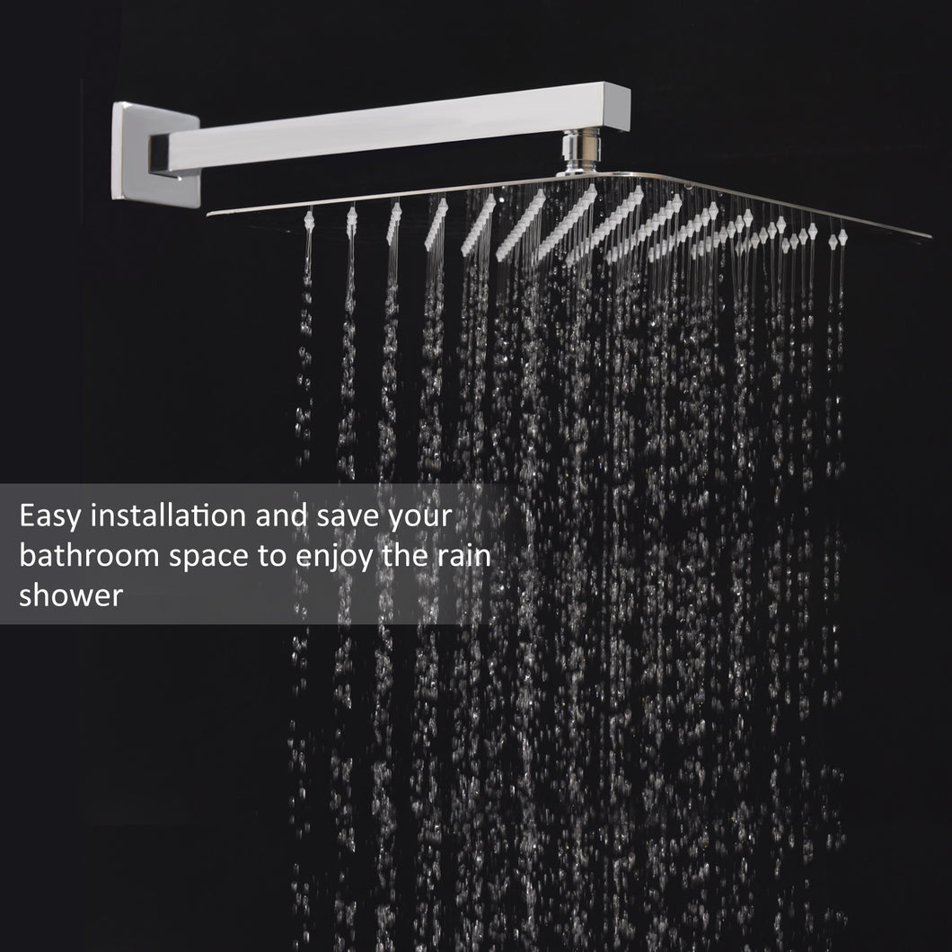 Artbath 12 Inch Large Square Rainfall Shower Head Celling