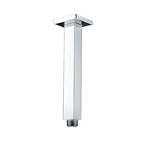 7.9 inch Artbath Rain Shower Arm Square 200mm Ceiling Mounted Arm Brass for ...