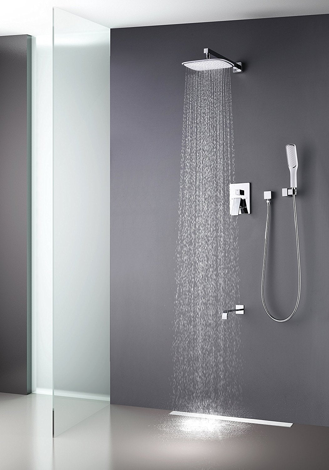 Artbath Luxury Rain Mixer Shower Combo Set Wall Mounted 3
