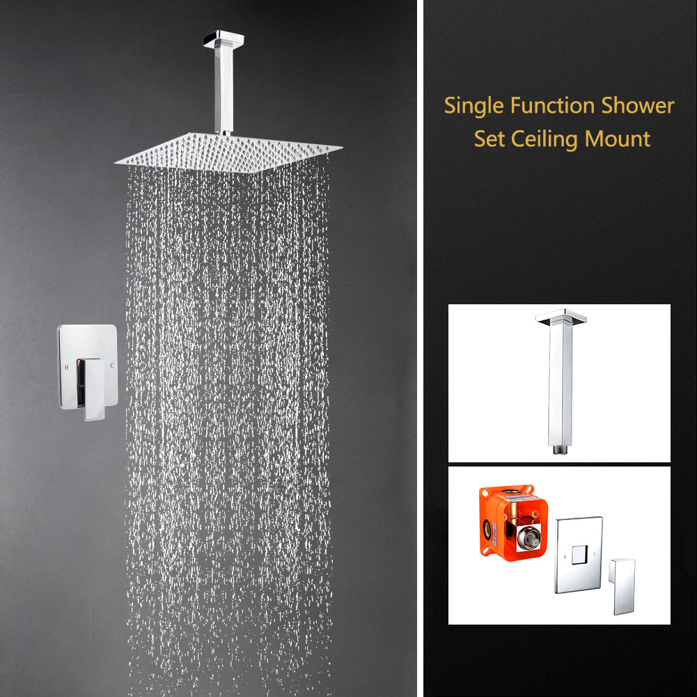 Bathroom Shower Faucet Set Hot And Cold Mixer Panel 10 Inch Air Water Saving Brass Chrome Rain Shower Head Shower Faucets Back To Search Resultshome Improvement