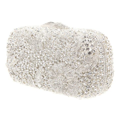 Crystal Floral Clutch
