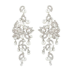 Presley Pearl & Crystal Garden Earrings