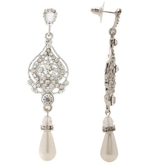Destiny Vintage Victorian Crystal Earrings