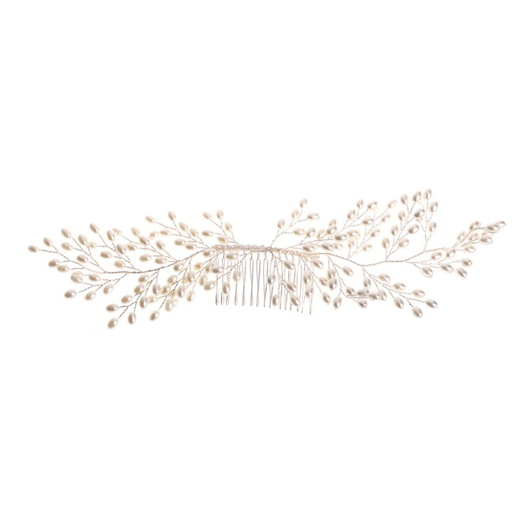 Willa Long Pearl Bridal Comb