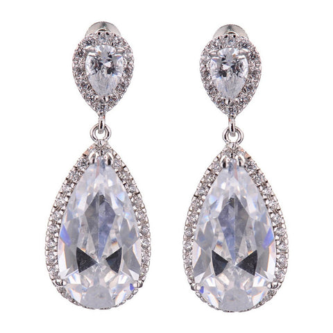 Isabel Crystal Elegant Tear Drop Earrings - Bella Krystal