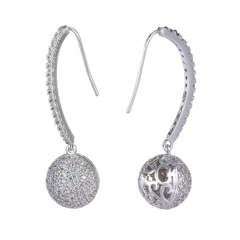 Jayda Crystal Ball Drop Earrings - Bella Krystal