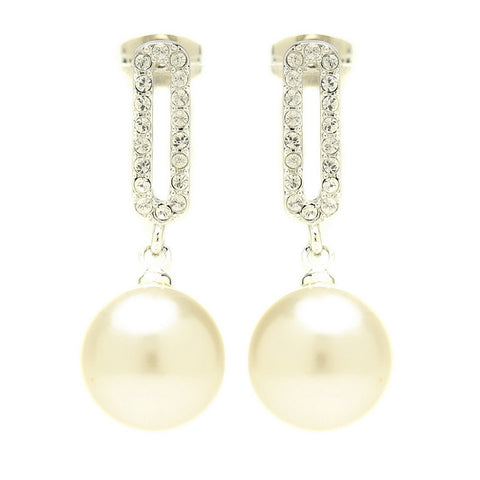Clara Elegant Crystal Drop Earrings - Bella Krystal