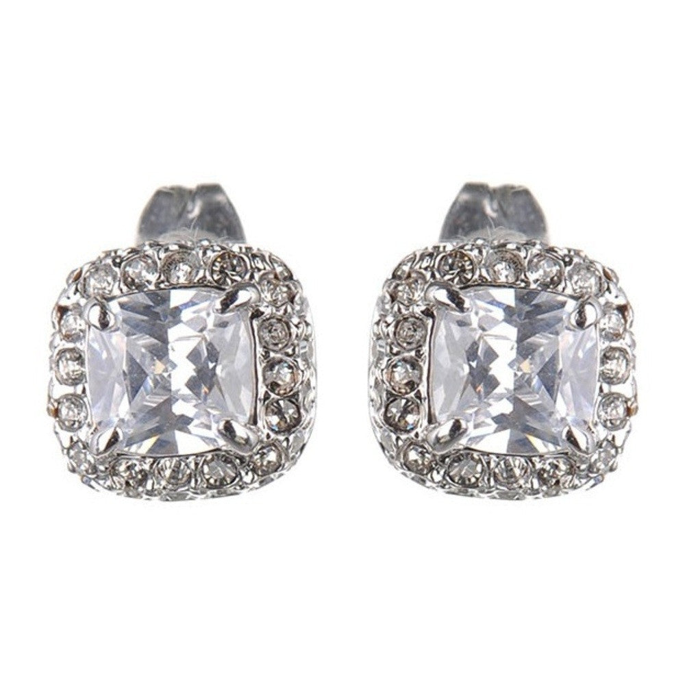 Andrea Crystal Cushion Studs - Bella Krystal