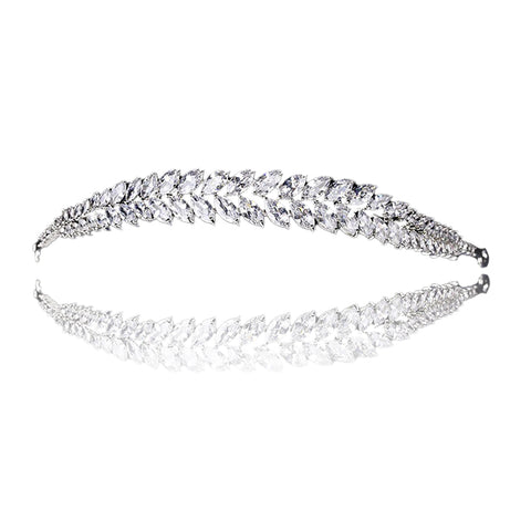 Giana Crystal Leaf Tiara