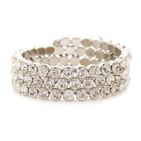 Misha Crystal Wrap Bangle - Bella Krystal
