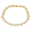 Ellie Crystal Leaf Gold Bracelet