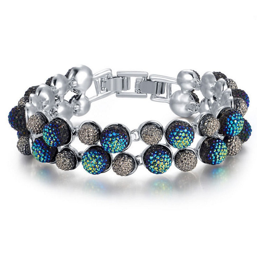 Kyleigh Crystal Ball Bracelet - Bella Krystal
