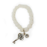 Glass Bead Charm Bracelet - Key - Bella Krystal