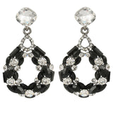 Josephine Onyx Crystal Drop Earrings - Bella Krystal