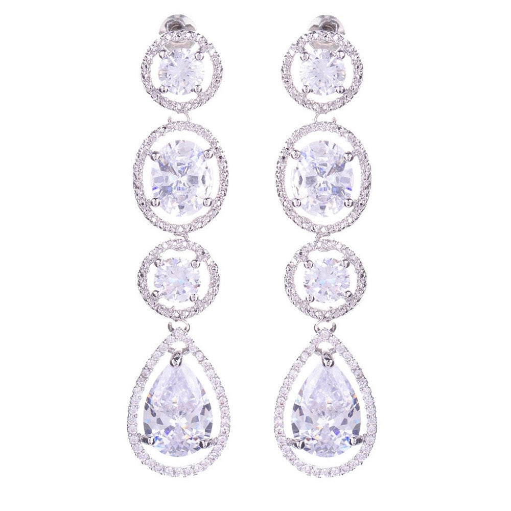 Megan Crystal Tear Drop Earrings - Bella Krystal