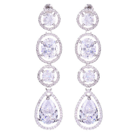 Megan Swarovski Tear Drop Earrings - Bella Krystal