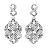 Cora Crystal Knot Earrings - Bella Krystal