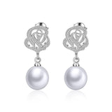 Ada Elegant Pearl Drop Earrings
