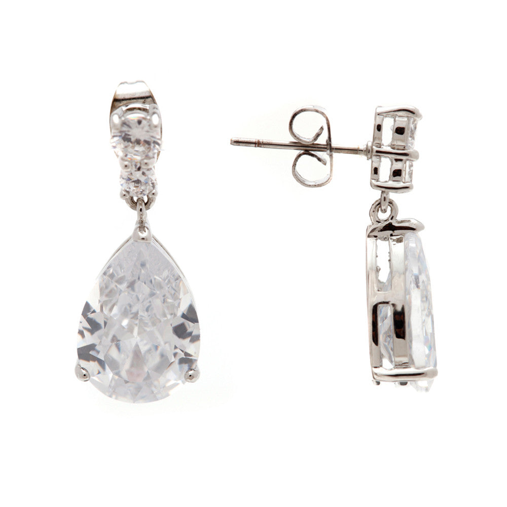 Isabella Diamond Cut Crystal Drop Earrings - Bella Krystal