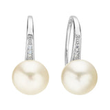 Bianca Timeless Pearl & Crystal Drop Earrings - Bella Krystal