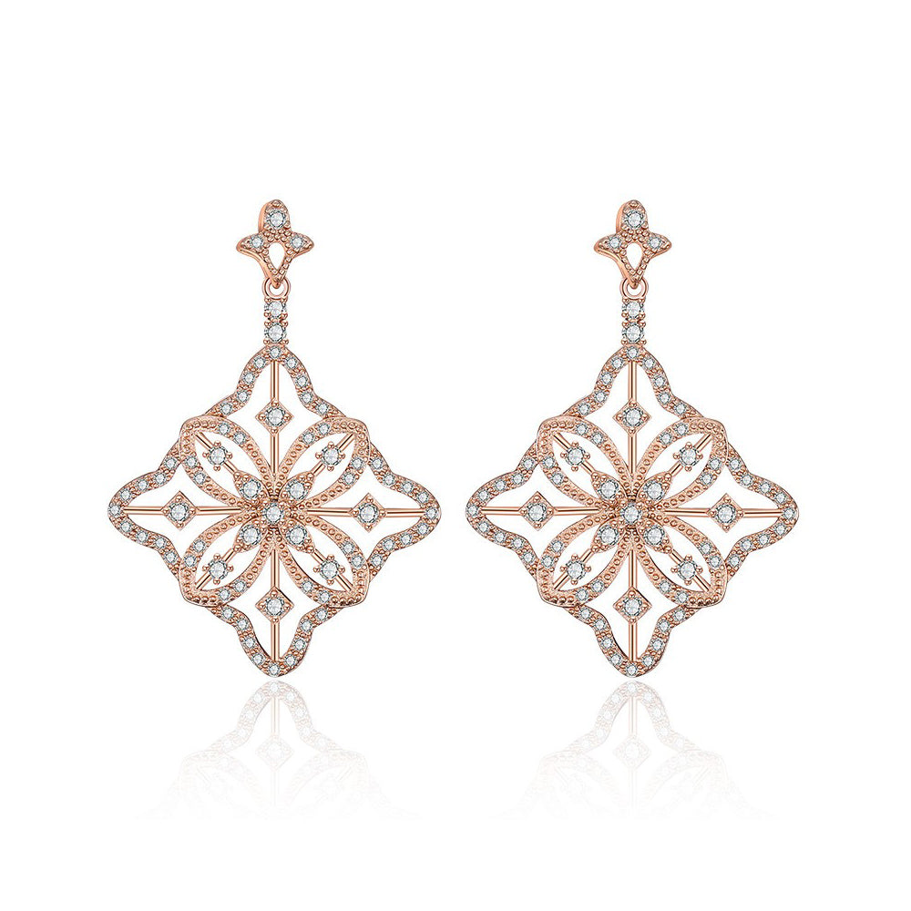 Agata Crystal Earrings