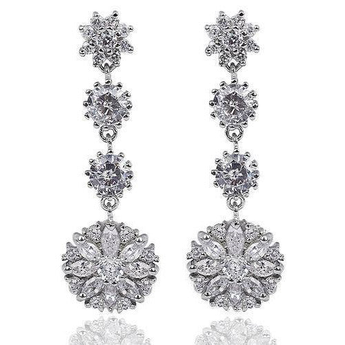 Peyton Chandelier Crystal Earrings - Bella Krystal