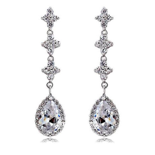 Alexa Swarovski Drop Earrings - Bella Krystal