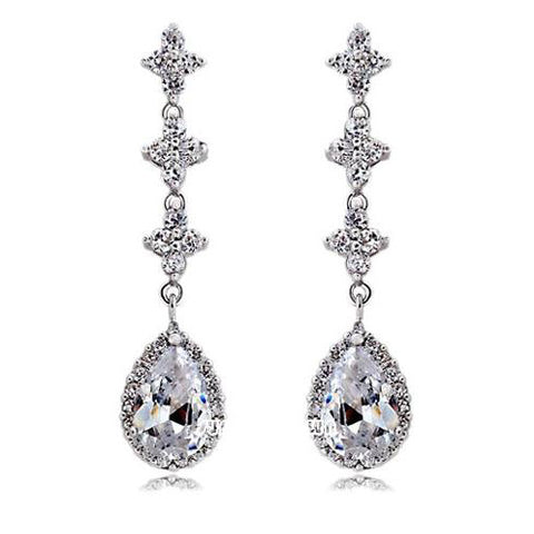 Alexa Crystal Drop Earrings - Bella Krystal