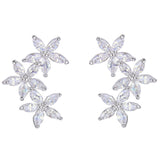 Mallory Crystal Leaf Earrings - Bella Krystal