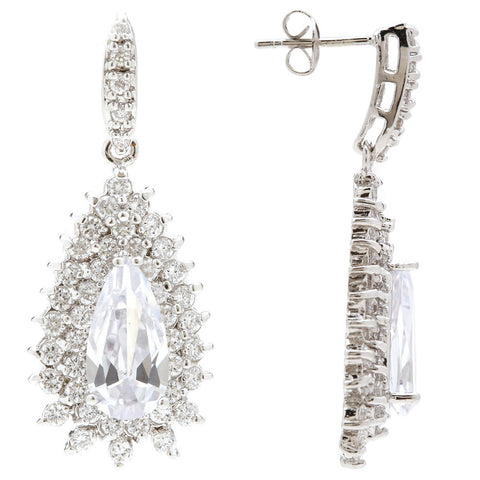 Madelyn Elegant Princess Crystal Earrings - Bella Krystal