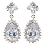 Audrey Drop Crystal Earrings - Bella Krystal