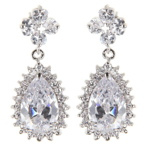Audrey Drop Swarovski Earrings - Bella Krystal
